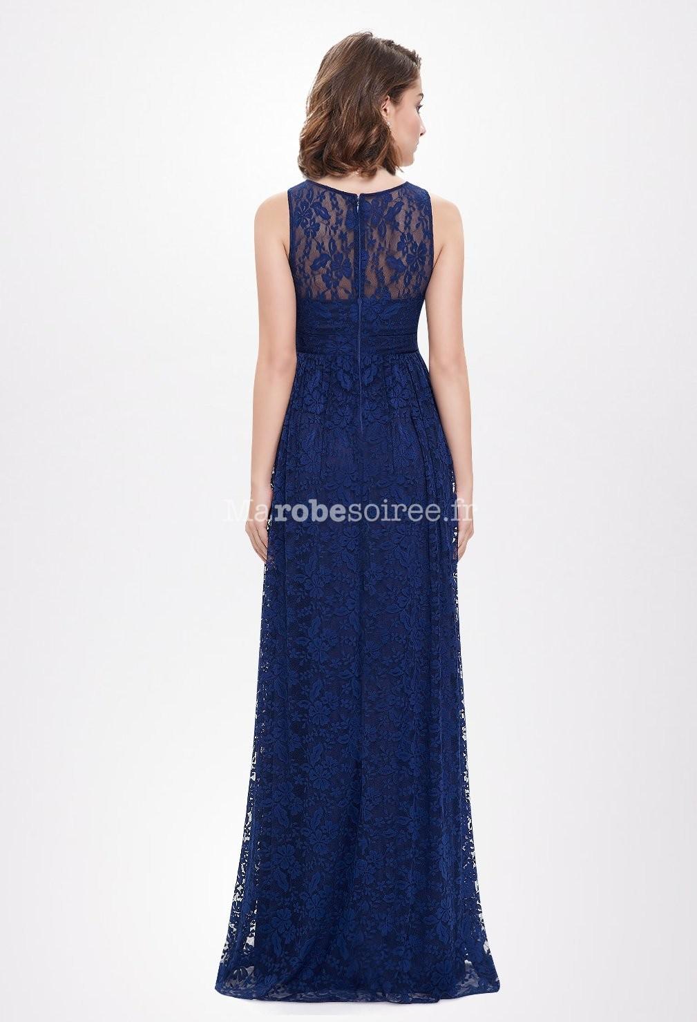 somptueuse robe de c r monie bleu nuit On robes de mariée de nuit