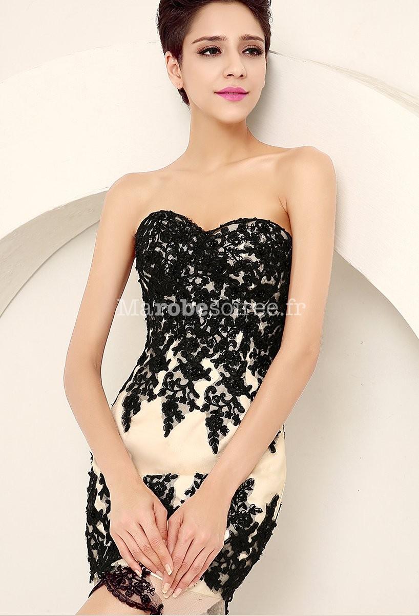 robe asym trique avec voile et dentelle noir. Black Bedroom Furniture Sets. Home Design Ideas