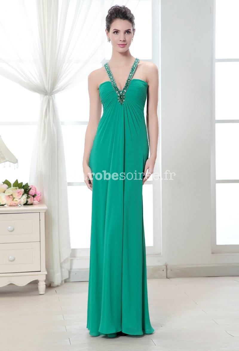 Robe longue en vert émeraude