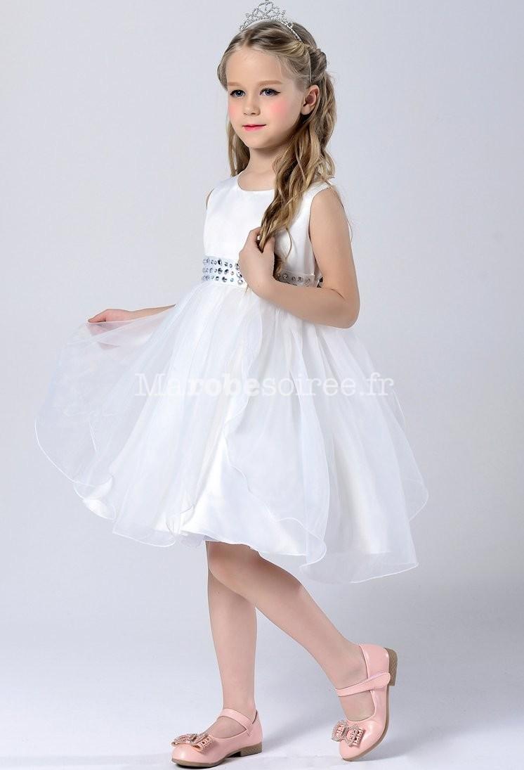 robe de cort ge enfant ceinture strass