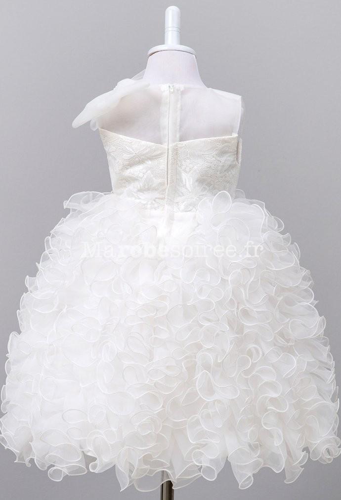 34ce42dff3ee6 ... Robe de cérémonie fille froufrou dentelle ...
