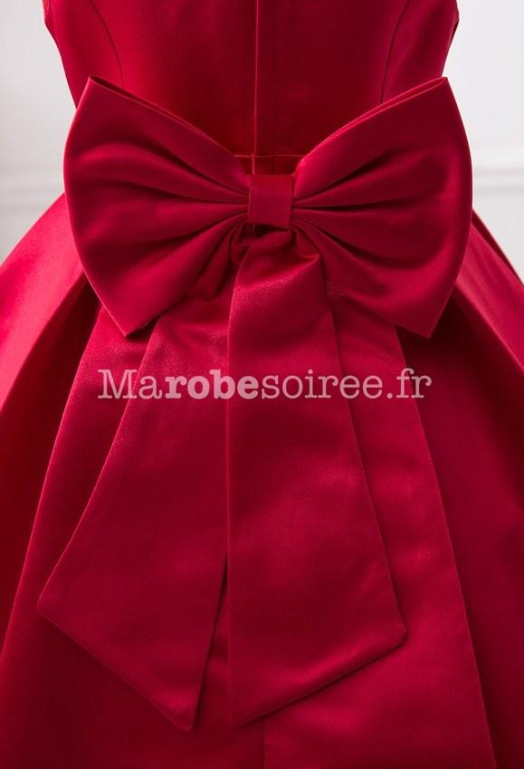 Robe de ceremonie fille bordeaux