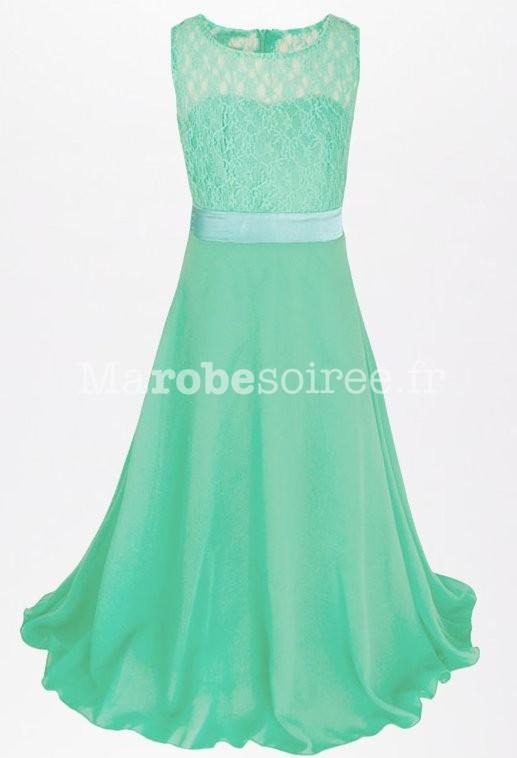 Robe de ceremonie fille vert anis