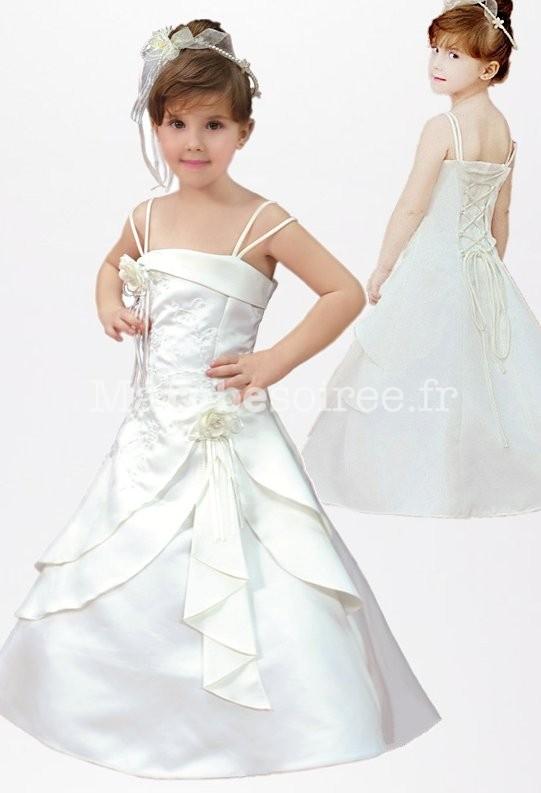 5215d45cf1740 Robe de cérémonie fille longue avec fine brodée réf  EF1545
