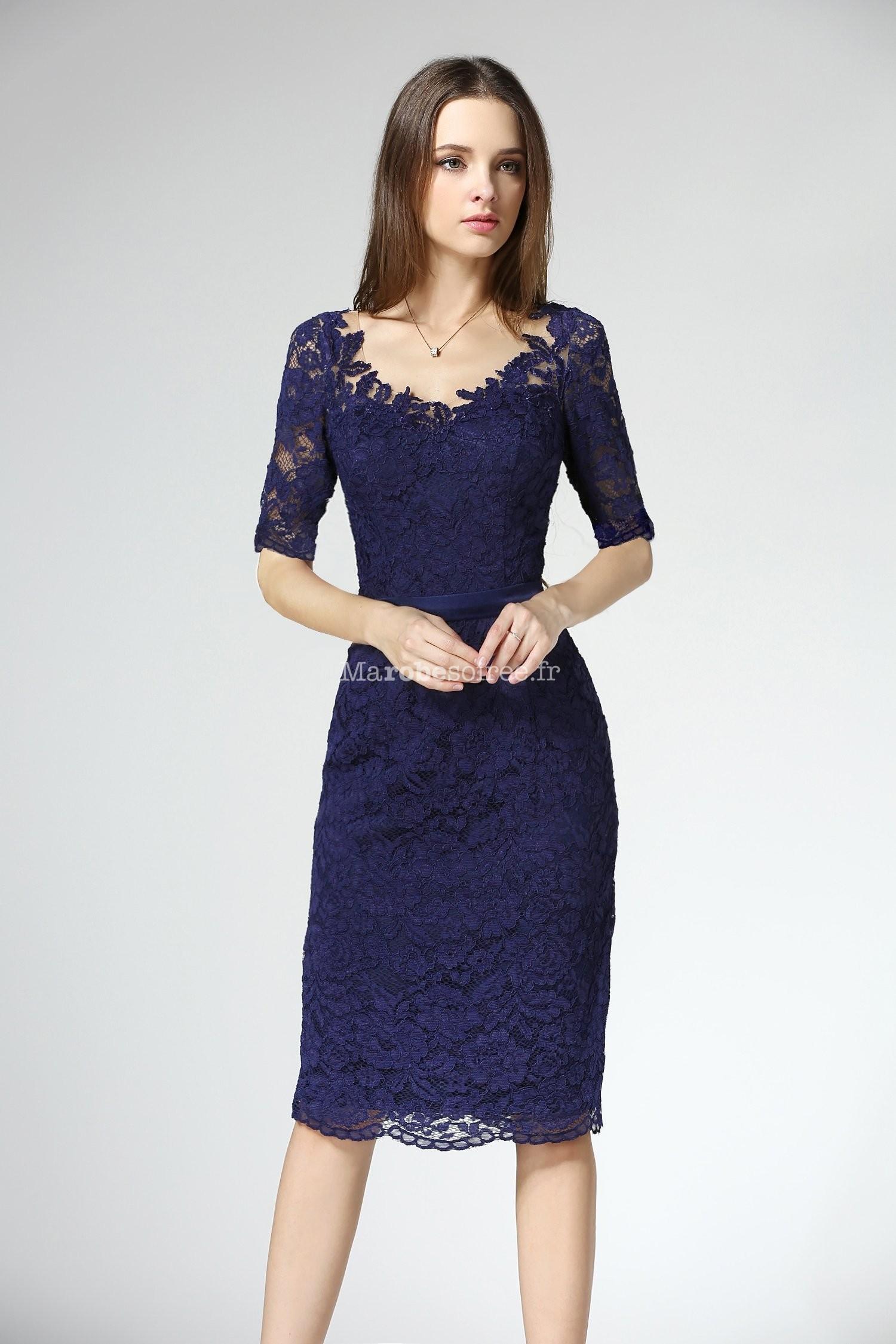 El gante robe fourreau fine et souple dentelle for Robes en dentelle pour mariage