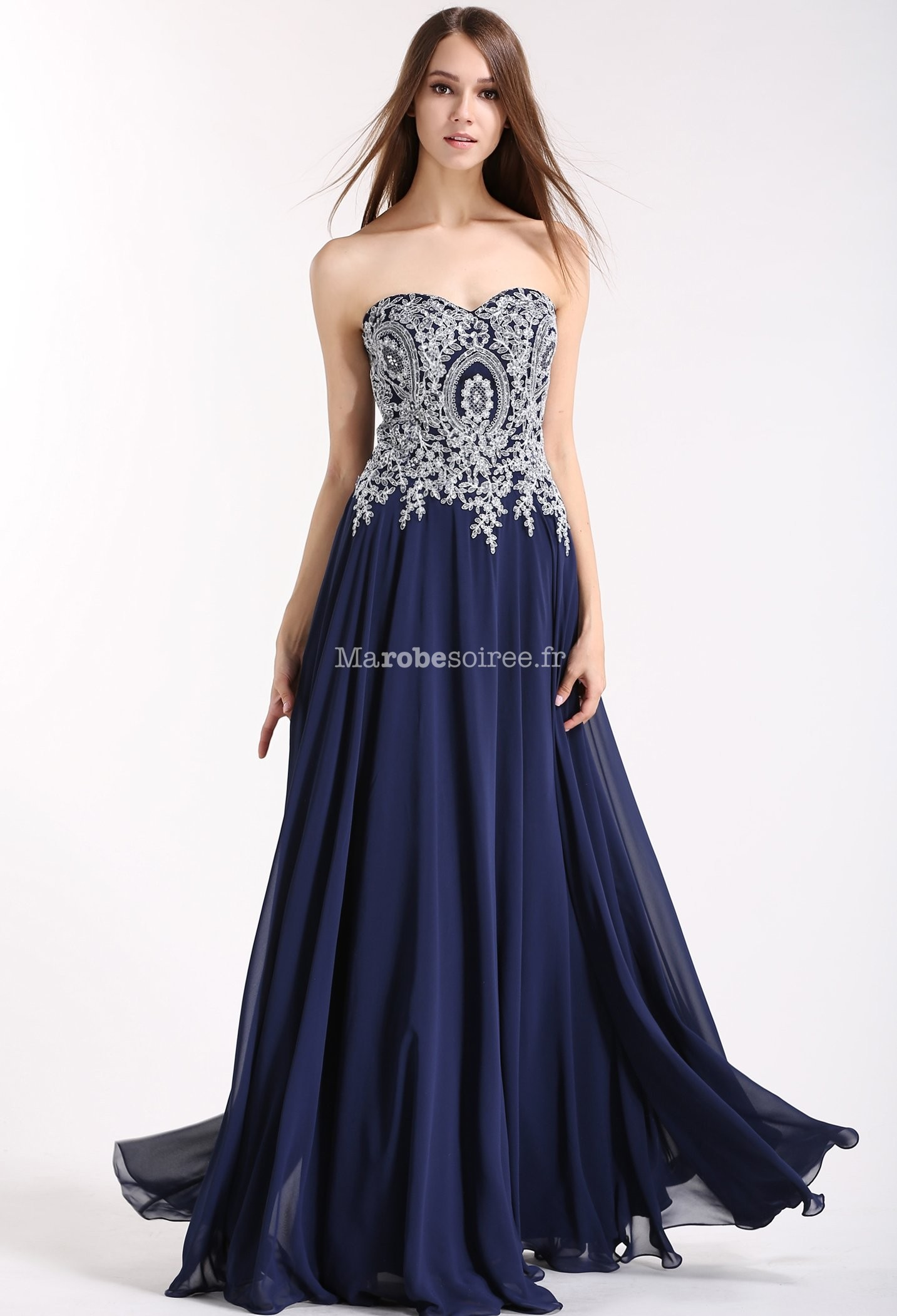 c7a4bee0ddc7 ... Robe de cérémonie glamour  Robe de bal bleu nuit  Rouge  Robe de soirée  longue bustier ...