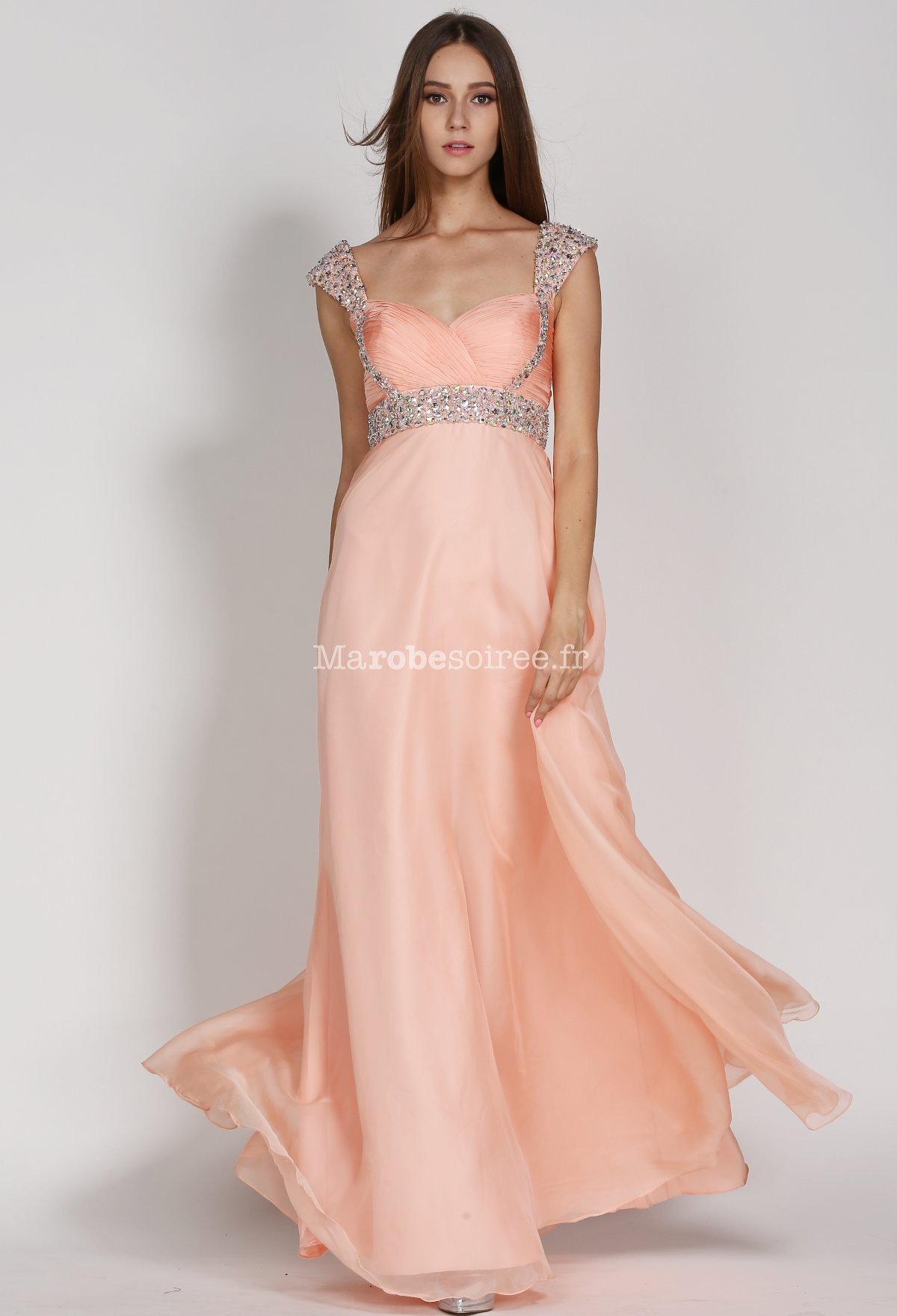 robe de soir e couleur p che mancherons strass empire en