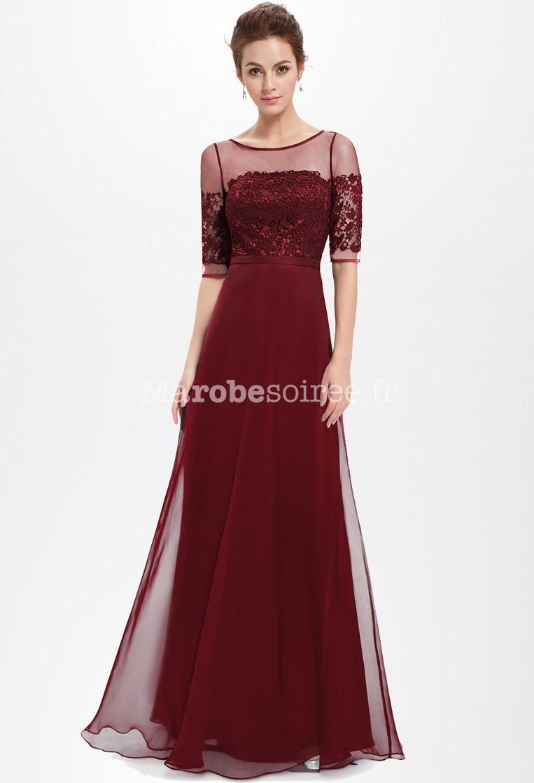 Magnifique robe de soir e en mousseline et dentelle for Robes de mariage hoochie mama