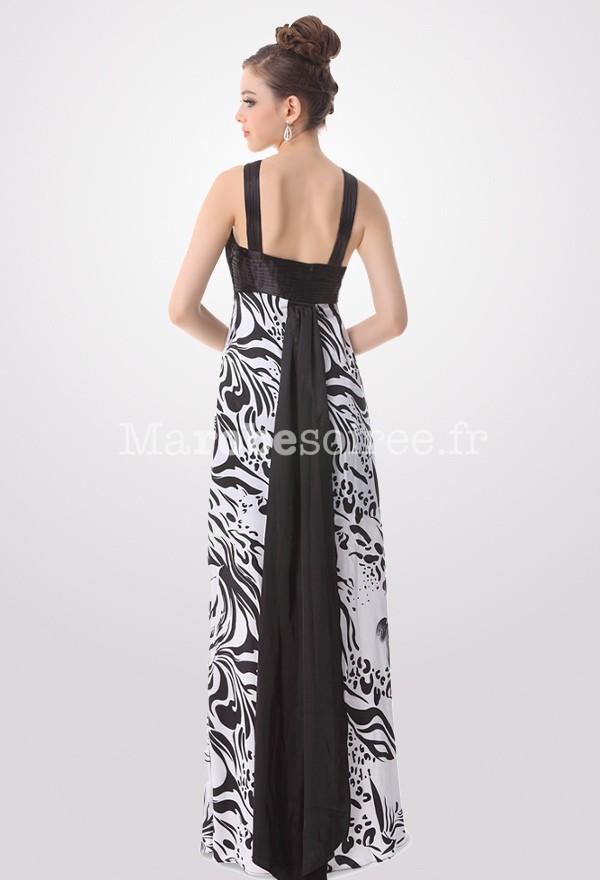 robe de c r monie en satin imprim motif floral en noir On serena robe de mariée potins fille prix