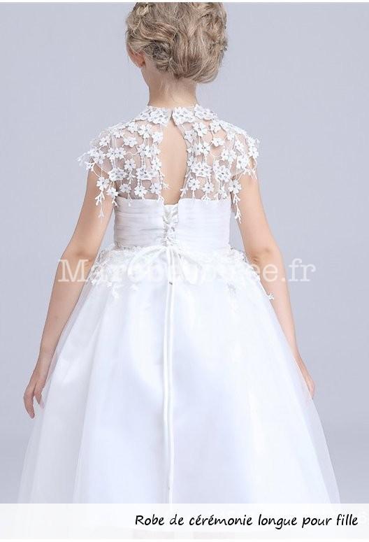 Robe de soiree fille blanc