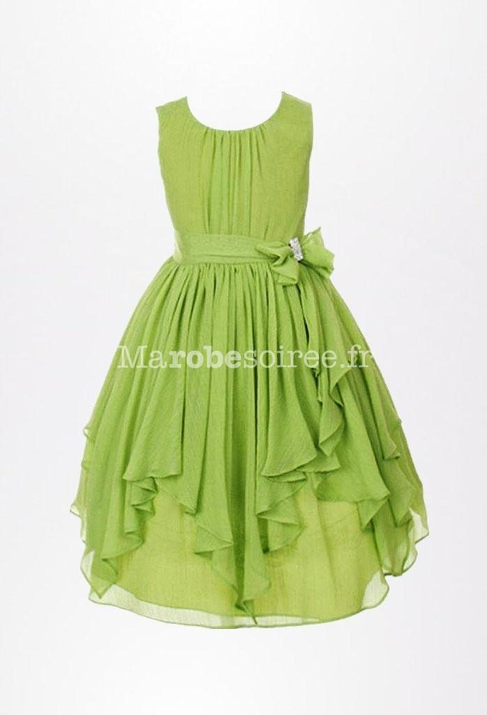 Robe de soir e fluide et simple mousseline for Robe vert aqua pour mariage