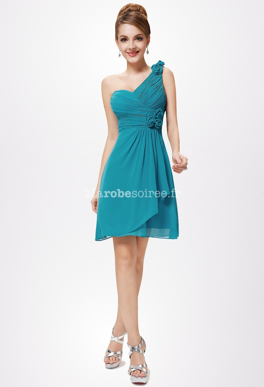 robe la mode robe de soiree courte bustier bleu. Black Bedroom Furniture Sets. Home Design Ideas