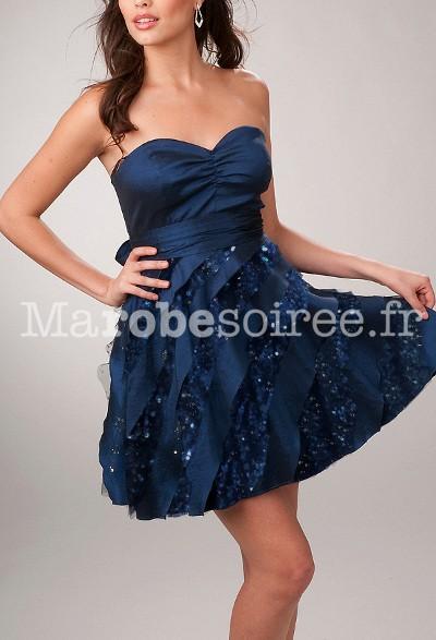 Robe soiree bleu canard
