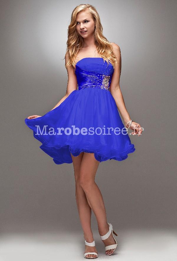 Robe habillee bleu electrique