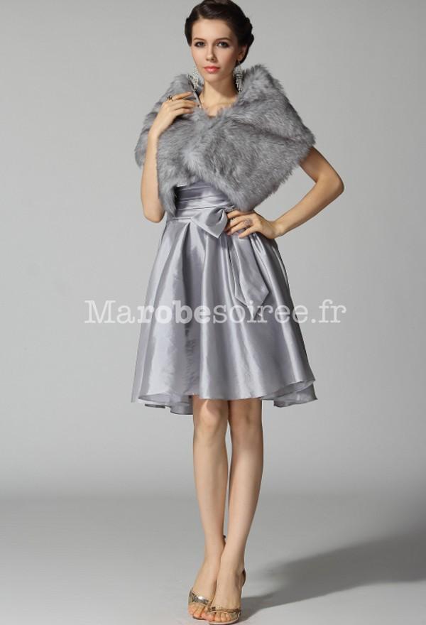 Robe de soiree couleur argent
