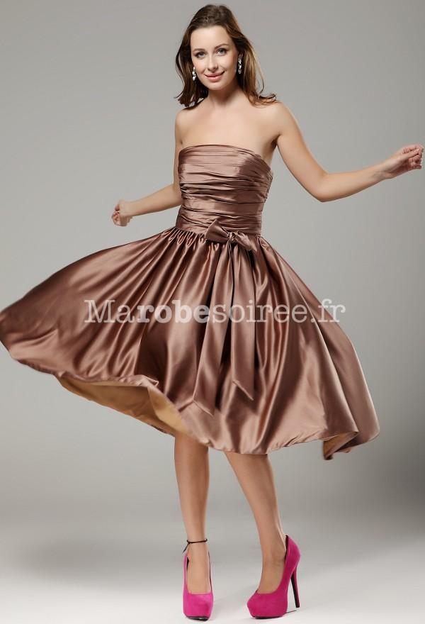 robe de soirée bustier jupe plissée sur mesure