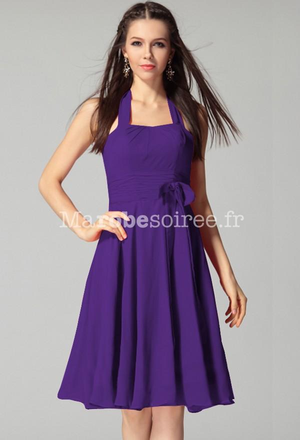 Robe violette et jaune