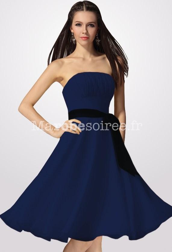 Robe bustier courte bleu