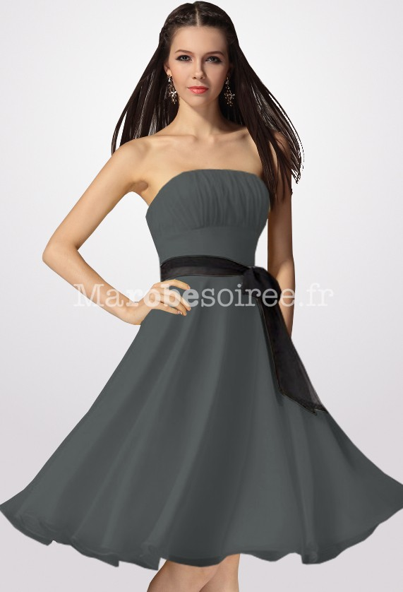 Robe bustier courte grise