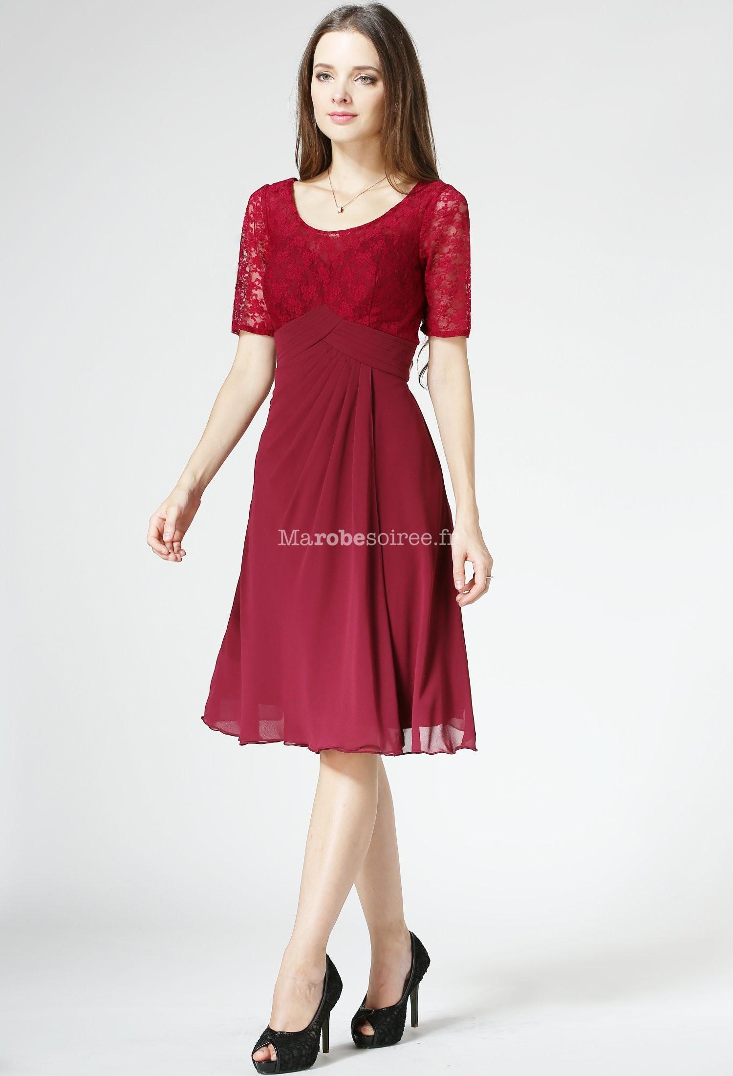 e23195532d8 ... manches et bustier dentelle fleuri réf 1520. Robe de mère de mariée  courte ...