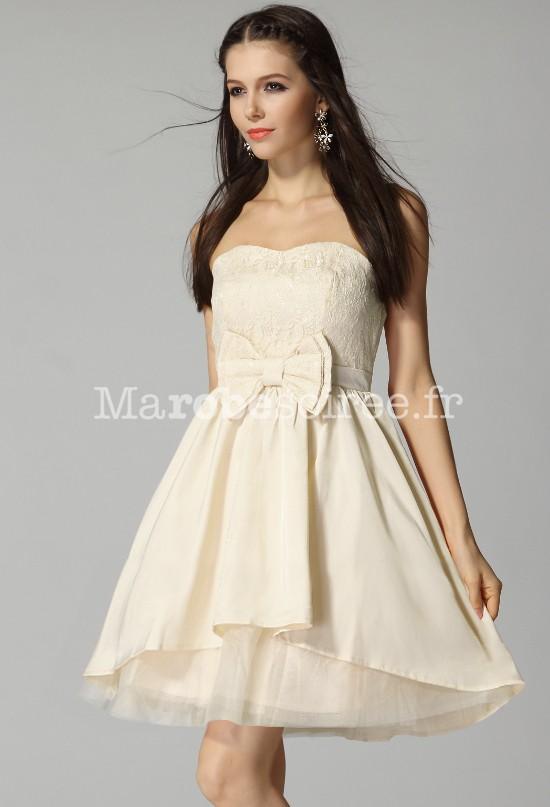 Robe mariee courte beige