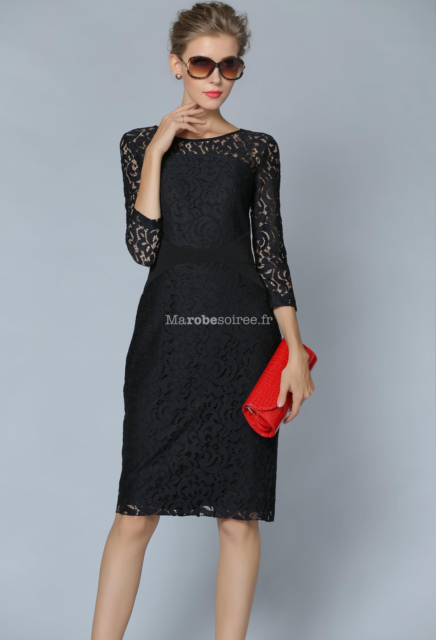 robe de cocktail tailleur rouge en dentelle. Black Bedroom Furniture Sets. Home Design Ideas