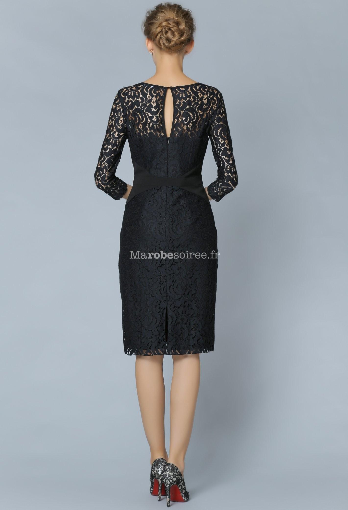 8d46927c81a43 Robe tailleur en dentelle manches longues ...