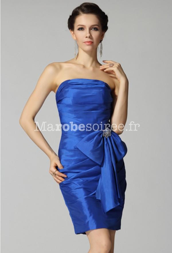 top robes blog robe de soiree courte bleu electrique