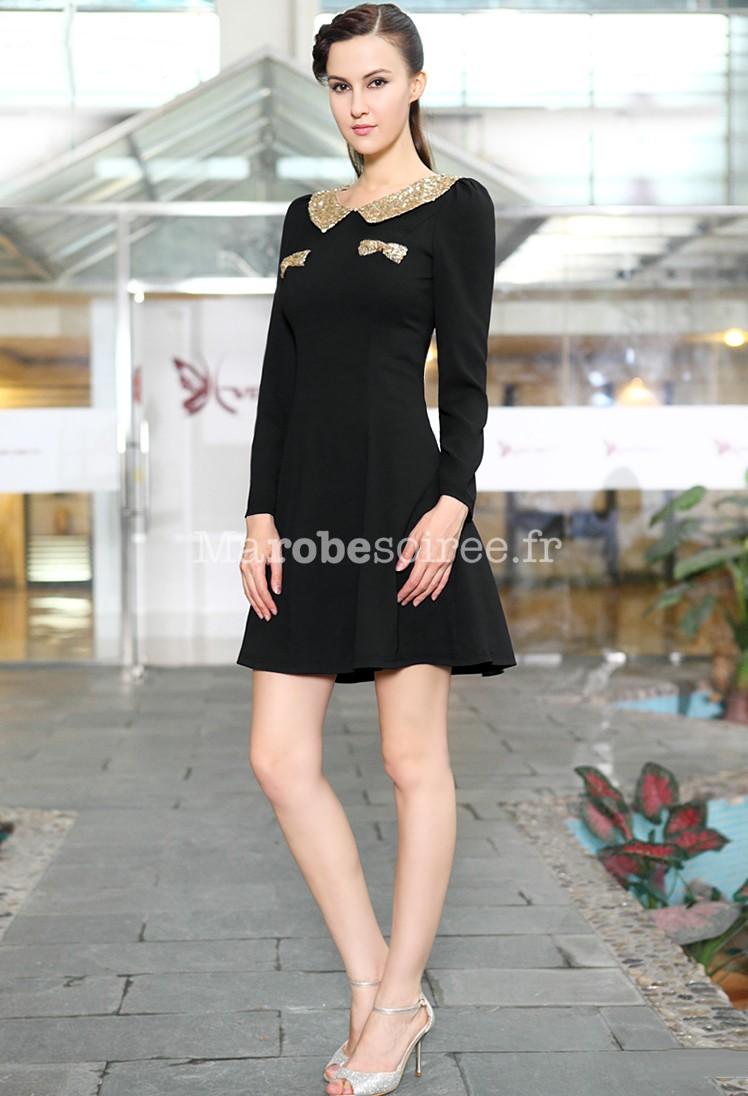 c3c53cc9d41 Robe courte noir charmante esprit