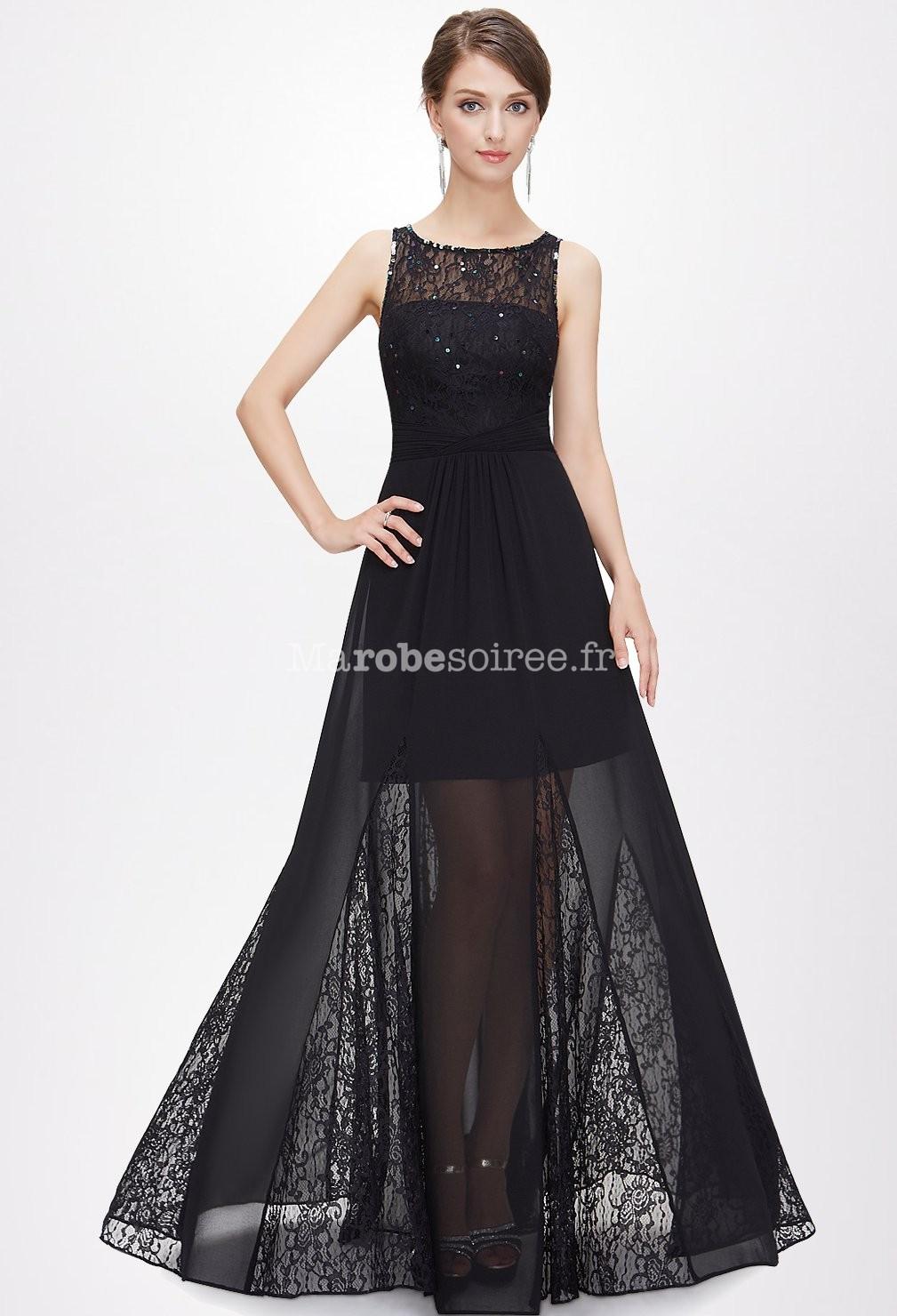 Robe noire longue sans manche