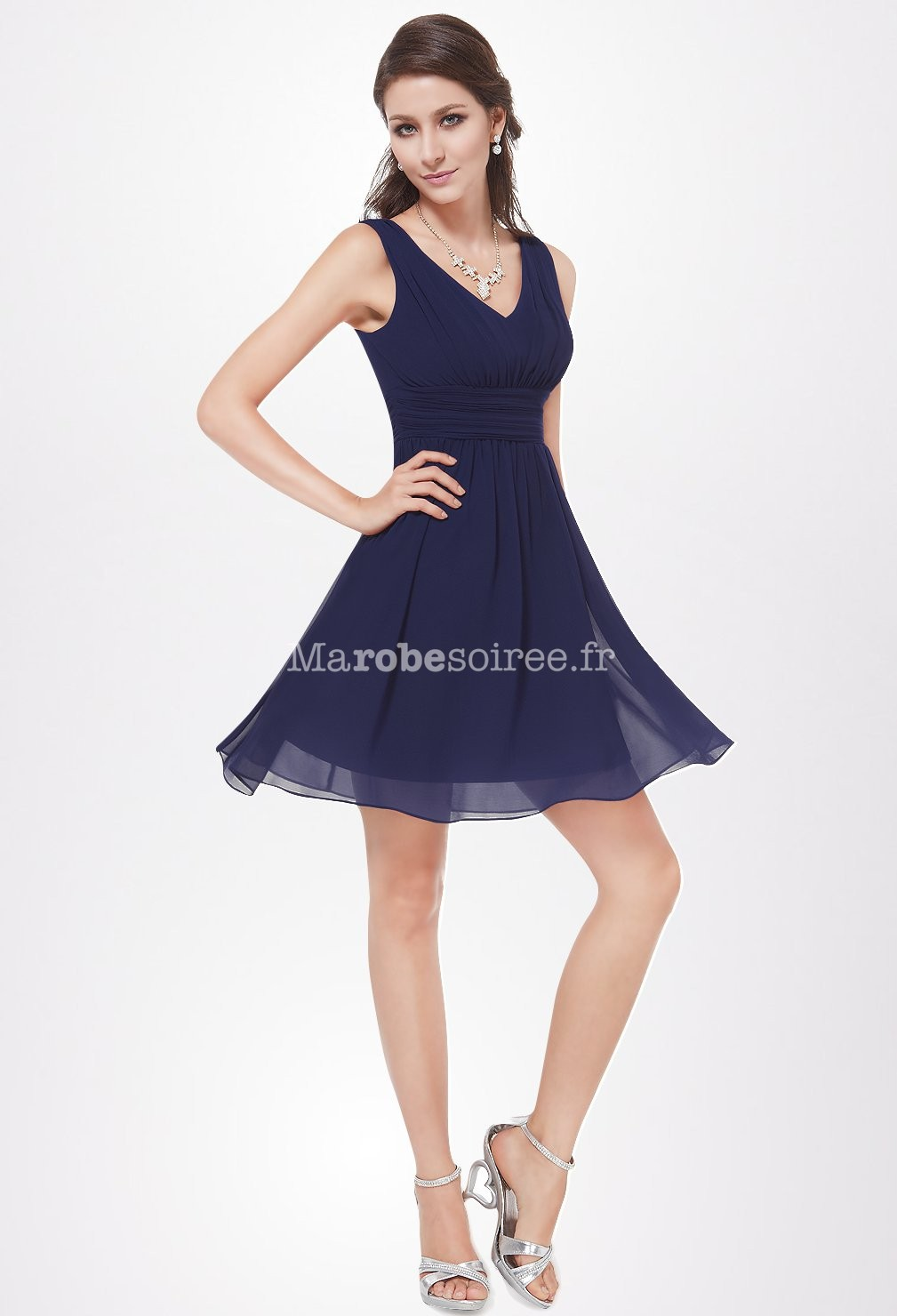 Robe De Cocktail Courte Mousseline Fluide Et L G Re