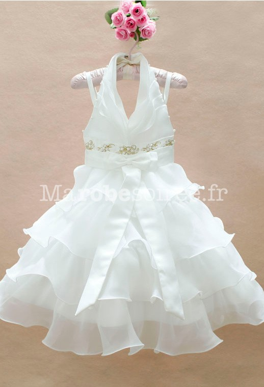 robe de cortège enfant blanche