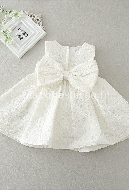 Petite Robe Bebe Fille Rose Poudree Dentelle