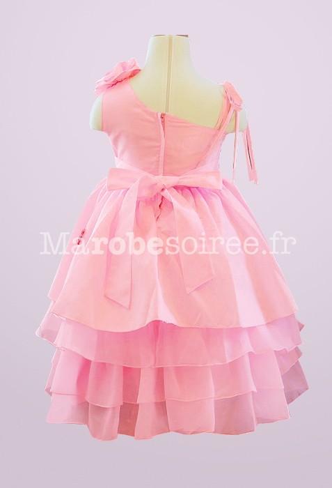 afc69e11ed1 Le célèbre Robe de cortège enfant rose bonbon bretelles asymétique  NV 73