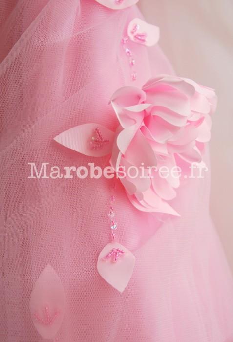 Préférence Robe de cortège enfant Coraline rose-bonbon recouverte tulle OB22