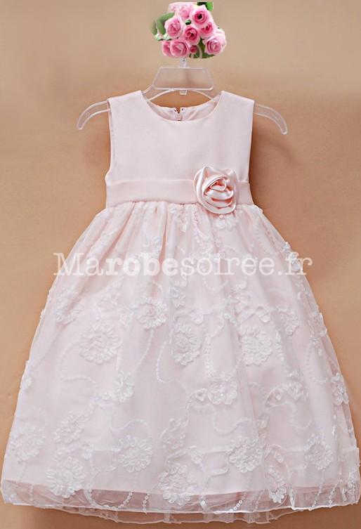 Robe ceremonie bebe rose poudre