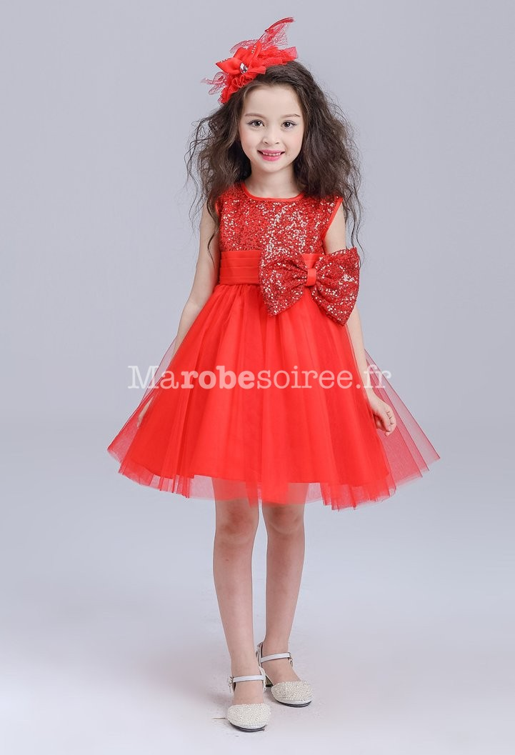 Robe de soiree rouge fille