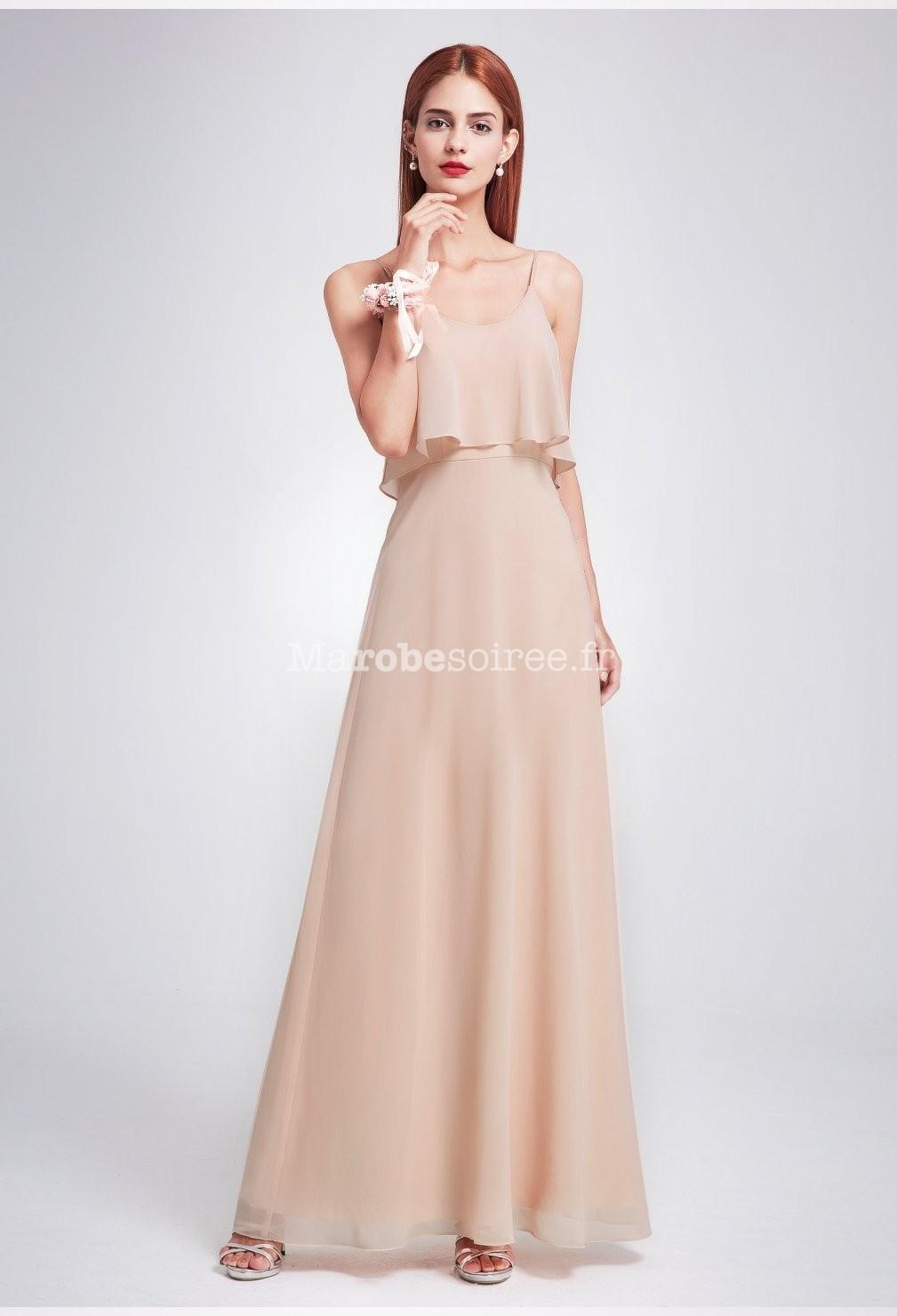 391f948ce44 ... Robe de demoiselle d honneur couleur nude  Robe de soirée ...