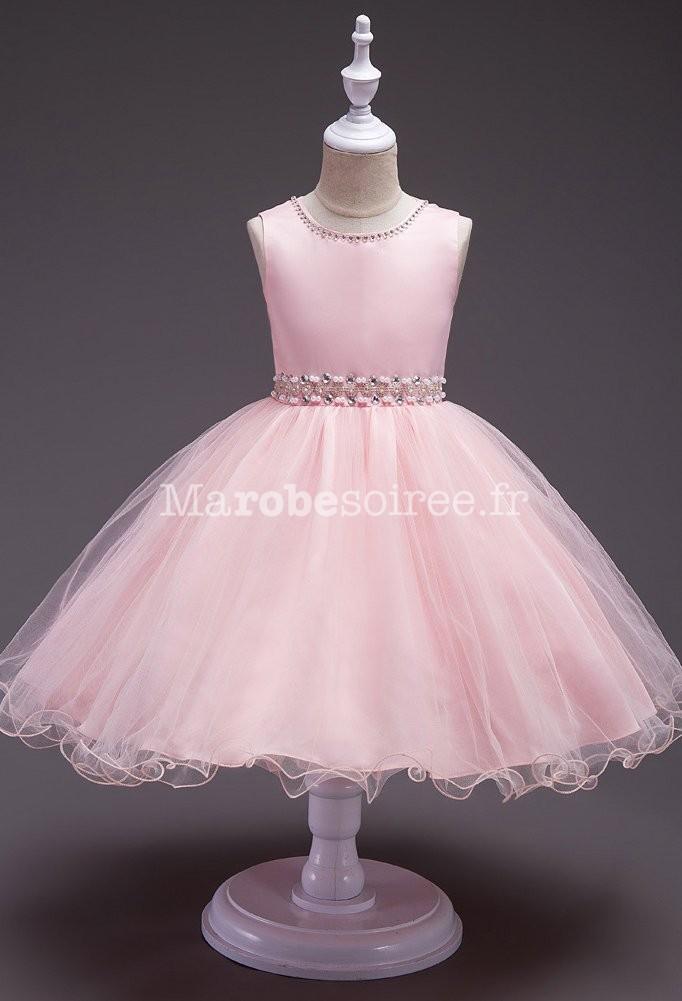 640c6a0b515b5e Robe bebe rose en perle et pailletée