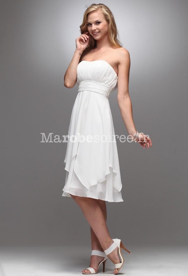 Accueil / Robe de mariée courte simple réf 406 - sur demande