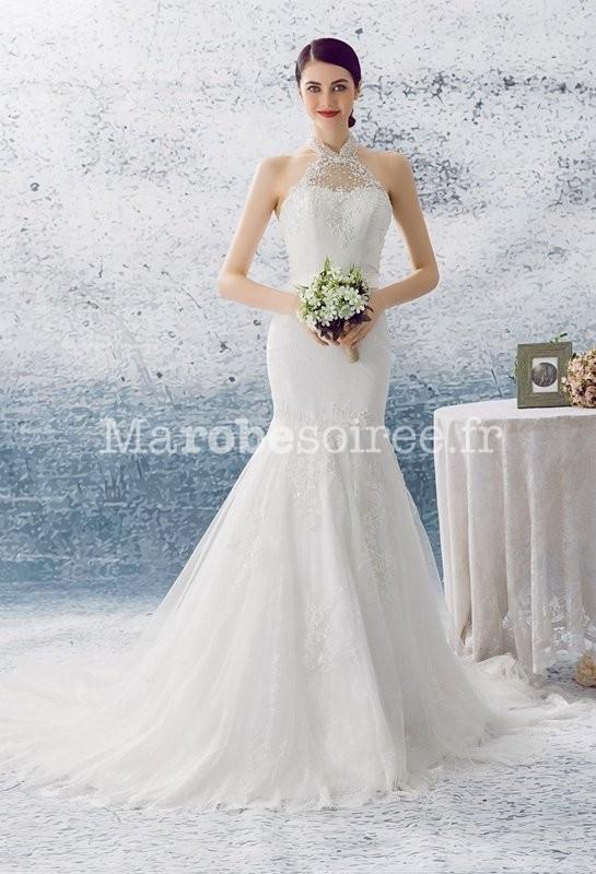 Robe de mariée sirène bohème