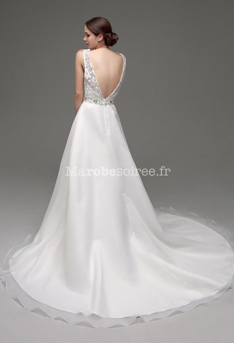 Accueil / Robe de mariée glamour avec dos decolleté en V réf SQ236 ...