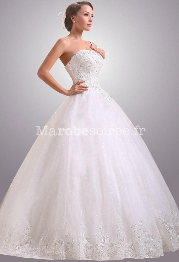 Sublime robe de mariée forme princesse réf 0024 , sur demande en Satin  duchesse
