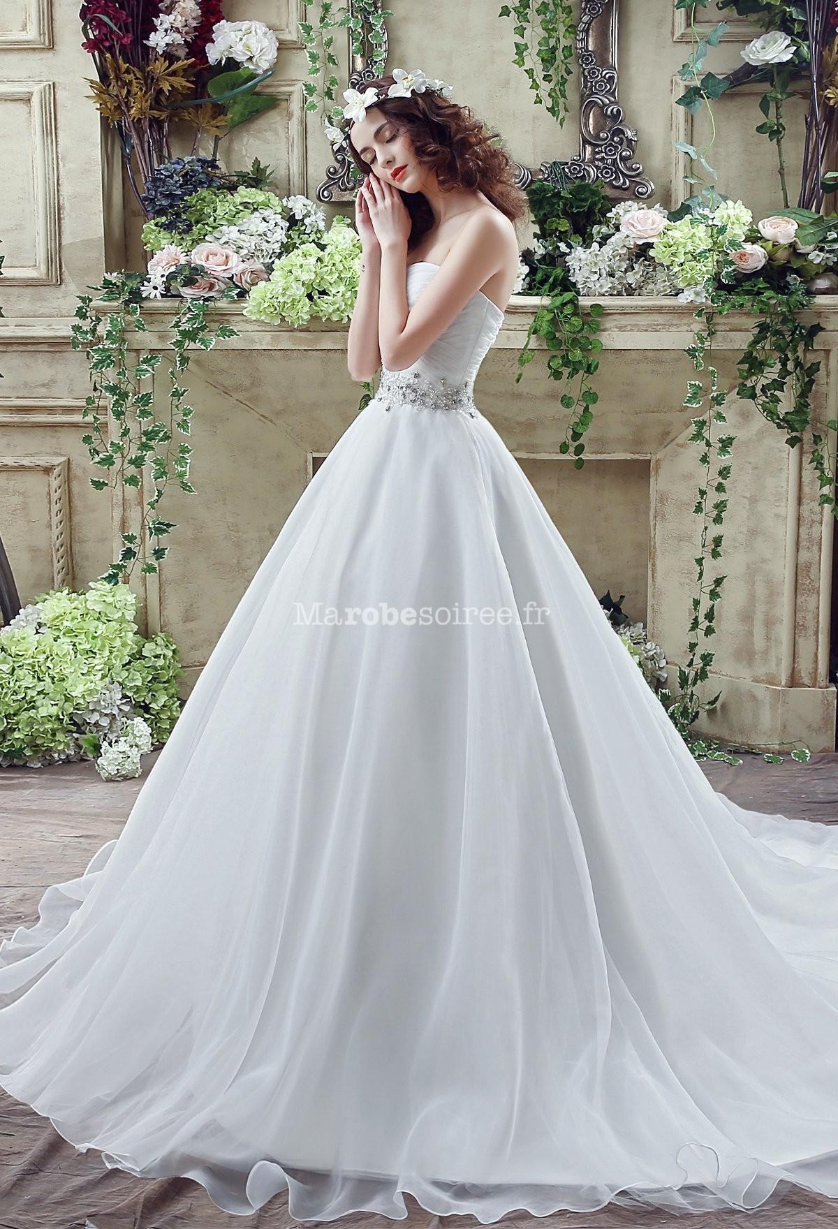 Accueil / Robe de mariée simple bustier cœur réf SQ263 - sur ...