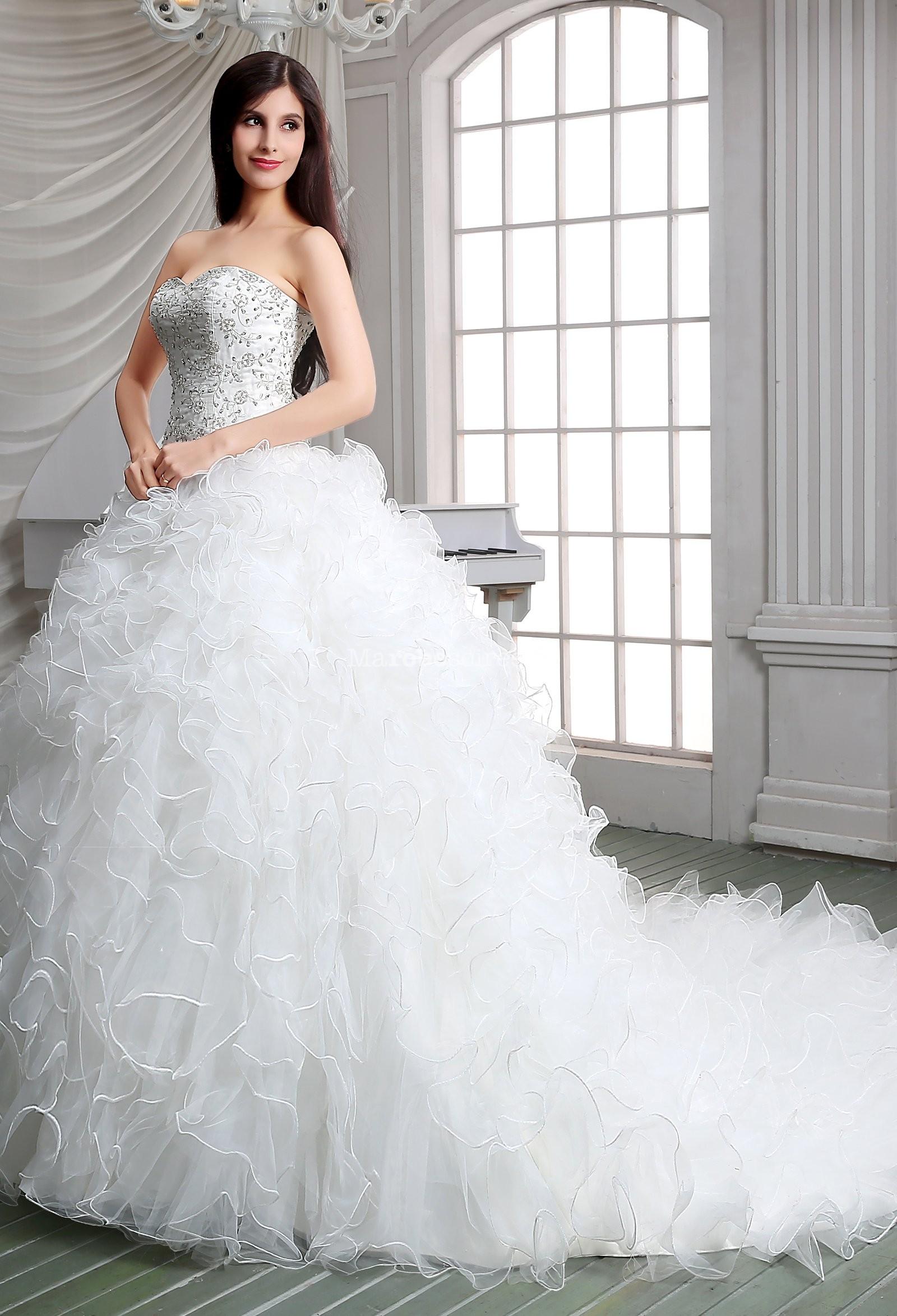 robe de mari e princesse froufrou bustier