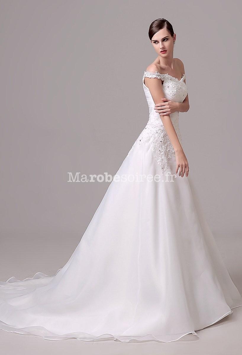 Robe de mari e dentelle bretelles fines for Robes de mariage en argent