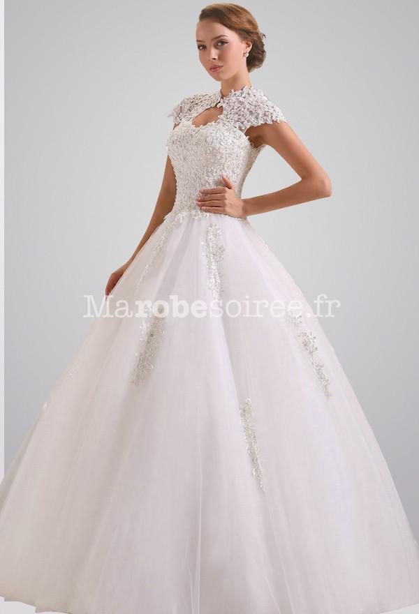 Accueil / Robe de mariée col-montant en dentelle réf 330 - sur ...