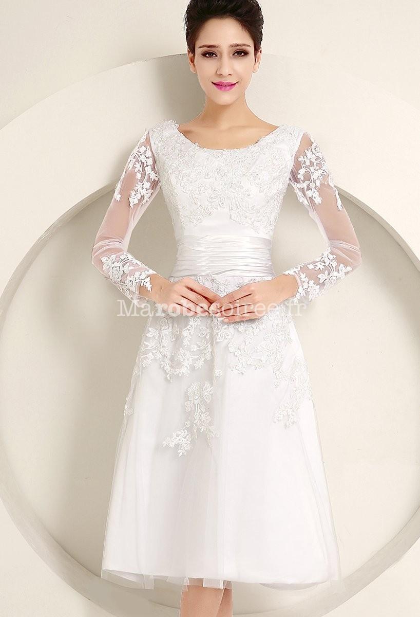 robe de mari e avec broderies et transparence dentelle
