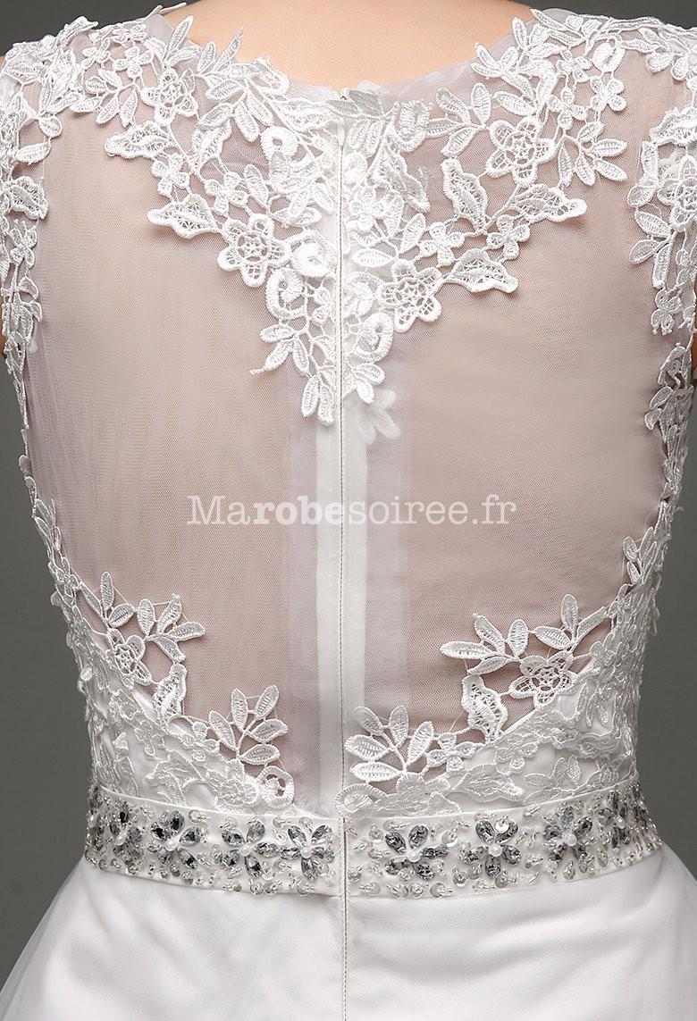 ... Robe de mariée romantique - zoom derri-re ... 2ba53a45967