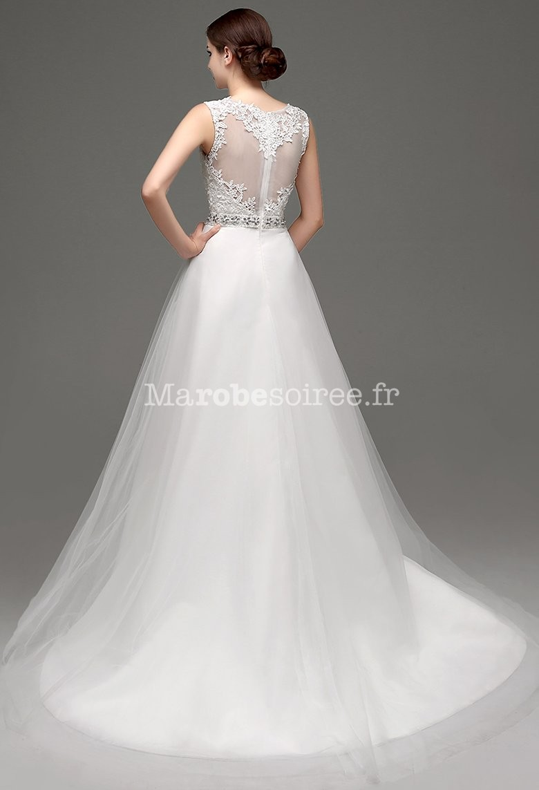 robe de mari e romantique avec dos transparent. Black Bedroom Furniture Sets. Home Design Ideas